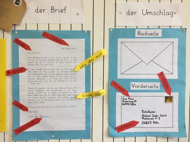 Briefe Beschriften Grundschule : Briefe schreiben michael ende grundschule